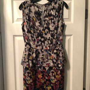 Never worn bcbgmaxazria peplum dress
